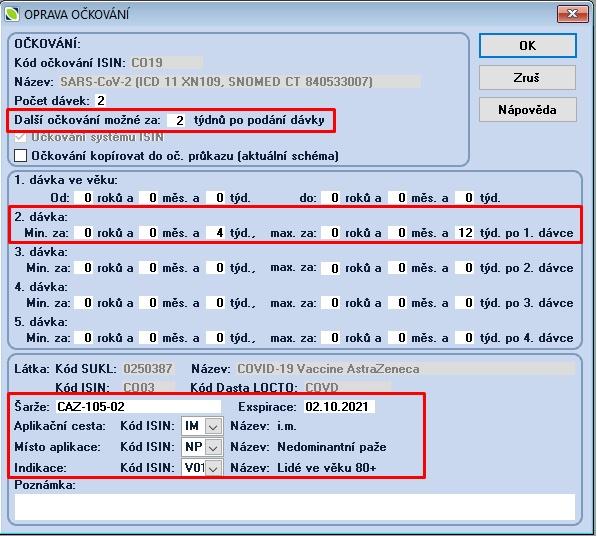 20210301 ISIN 02A číselník očkování příprava